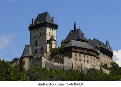 medieval castle Konopiste Czech Republic under the blue sky