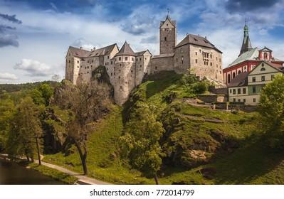 Medieval castle. Castle Loket