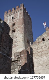 The medieval castle in Marostica, Italy