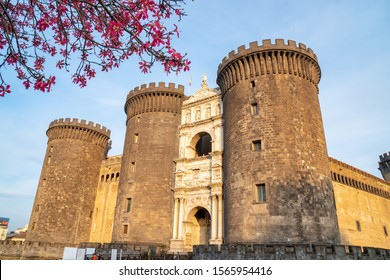 The medieval castle of Maschio Angioino or Castel Nuovo (New Castle), Naples, Italy. History. Travel.