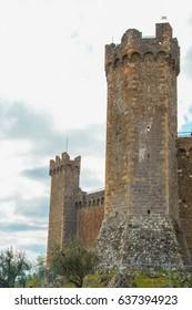 The medieval castle of Montalcino, Siena, Tuscany