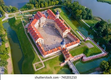 Medieval castle in Nesvizh, Minsk Region, Belarus.