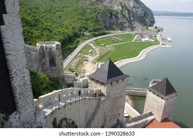 Medieval castle on the banks of the river Danub, Golubac.