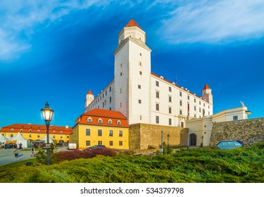 Medieval castle on the hill in Bratislava, Slovakia