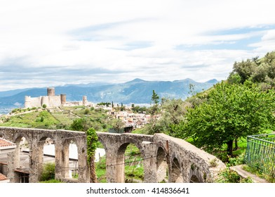 Medieval castle on a hill - Italy Naples Lettere