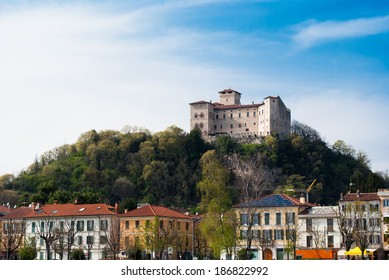 medieval castle overlooking the town of Angera on Lake Maggiore
