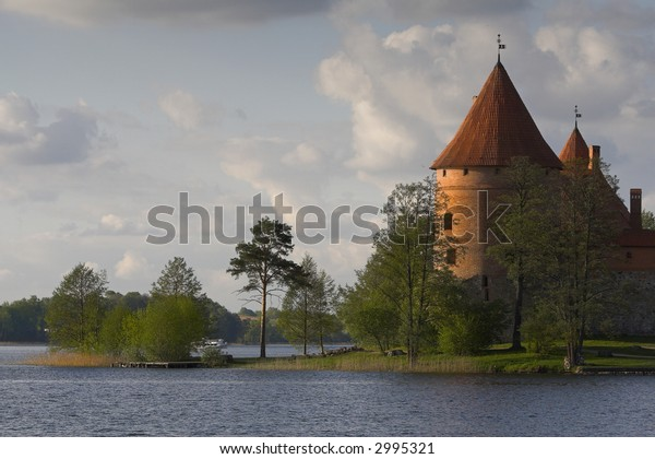 Medieval castle. Picture taken in Trakai / Lithuania