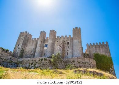 Medieval castle in the portuguese village of Obidos/ Castle/ fortress/ Portugal