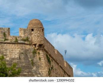 Medieval castle in Rethymno, Crete island, Greece