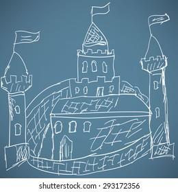 Medieval castle sketch