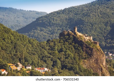 The medieval castle Strekov in the Czech city of Usti nad Labem. Czech Republic.