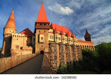 Medieval castle at sunset, Romania