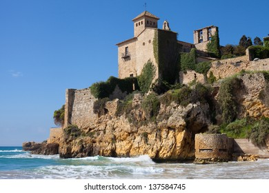 Medieval castle of Tamarit, Tarragona, Spain.