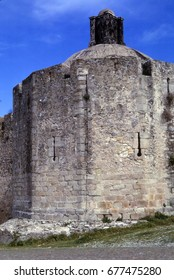 Medieval castle towers  of fortress in Elvas Portugal