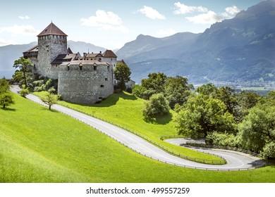 Medieval castle in Vaduz, Liechtenstein