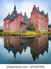 Medieval castle of Vallo in Denmark.