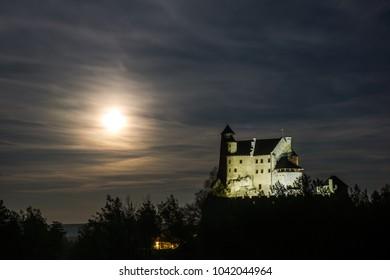 Medieval castle in village Bobolice on Jura Krakowsko-Czestochowska, Silesia , Poland