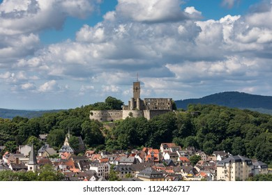 Medieval castle of the village of Koenigstein, Hesse, Germany