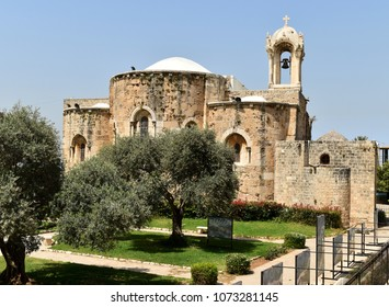 Medieval church building in center town of Byblos Lebanon. The church of the crusaders: Saint John and Marc