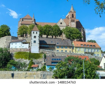 medieval church and old town in Breisach Germany