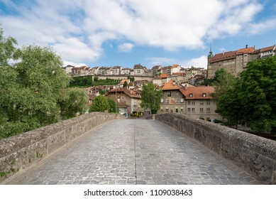 The Medieval City of Fribourg (Freiburg) in central Switzerland.