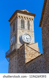 Medieval clock tower in the old district of Cannes, France