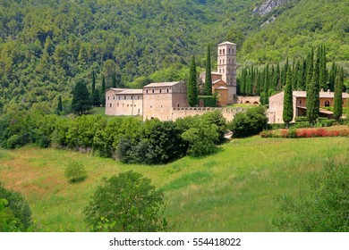Medieval complex of the Abbey of San Pietro in Valle, region of Umbria, Italy