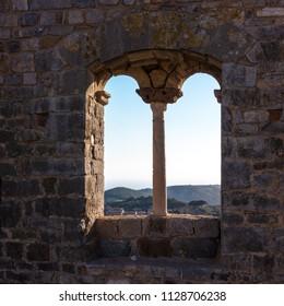 The medieval complex of the Rocca near Campiglia Marittima, Italy