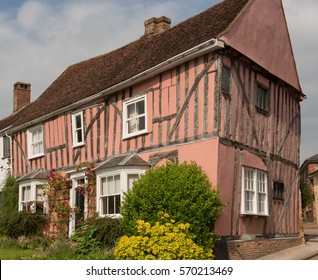Medieval Cottage in the Rural Village of Lavenham in Suffolk, England, UK.
