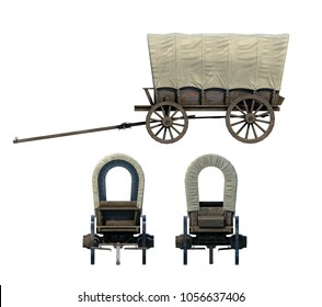 Medieval Covered Wagon 3D-Renders Set