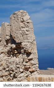 The medieval Crusader Knights castle on the Greek island of Halki.