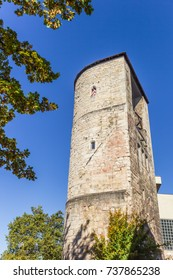 Medieval defense tower Beginenturm in Hannover, Germany