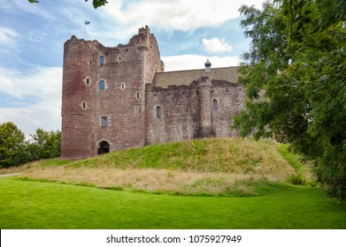 Medieval Doune Castle, Stirling district of central Scotland, UK, famous for being a filming location of British comedy Monty Python and the Holy Grail