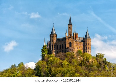 Medieval european castle in Germany. Castle Hohenzollern.