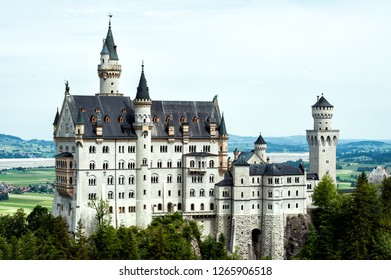 Medieval european castle in Germany. Castle Neuschwanstein. 19 century. Belong be a member bayerischen König Ludwig II.