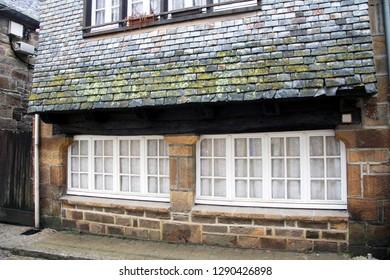 medieval facade of a celtic house