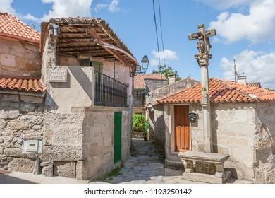 medieval fishing village of Combarro, Ria de Pontevedra, Galicia, Spain