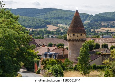 Medieval fortifications of Cluny town, France