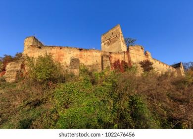 Medieval fortified saxon fortress in Saschiz village. Transylvania, Romania. It was built by the ethnic German Transylvanian Saxon community.