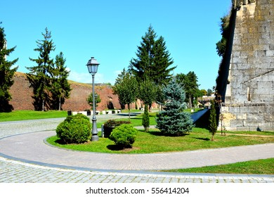 Medieval fortress Alba Iulia, Transylvania. The modern city is located near the site of the important Dacian center of Apulon, which was mentioned by the ancient Greek geographer Ptolemy.
