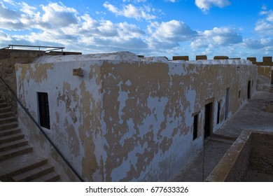 Medieval fortress Bordj El Kebir (Fort Ghazi Mustapha) at Mediterranean coast of Tunisia near Houmt El Souk town. Djerba island. North Africa