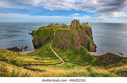 Medieval fortress Dunnottar Castle (Aberdeenshire, Scotland)