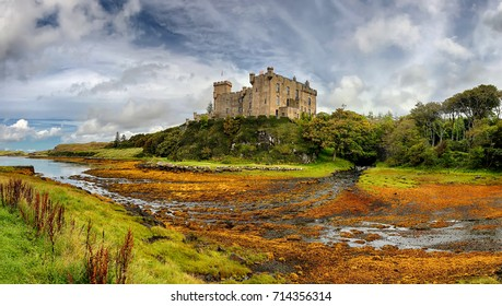 Medieval fortress Dunvegan Castle (Isle of Skye, Scotland)