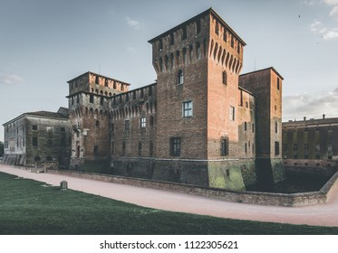 medieval fortress - Gonzaga Saint George castle - Mantua Italy