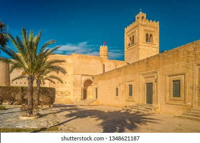 The medieval fortress with its large courtyard is one of the main attractions in Northern Africa, Monastir, Tunisia.