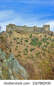 Medieval fortress Maglic on mountain cliff, Serbia