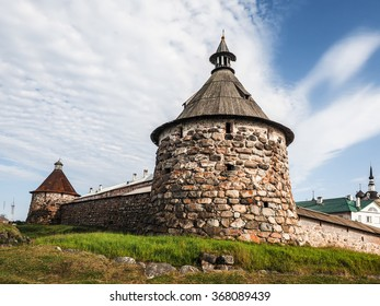 Medieval fortress on the Solovetsky Islands. Solovetsky Monastery.