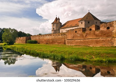 Medieval fortress in Romanian country Transylvania, city of Fagaras
