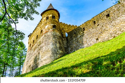 Medieval fortress tower. Ancient castle