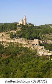 The medieval fortress of Tsarevets in Veliko Tarnovo, the former capital of Bulgaria